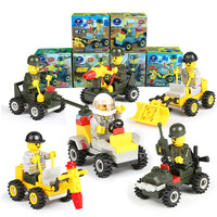 6 boxes/lot Fashion Baby Learning Toys 3D Assembly Building Block toy for kids