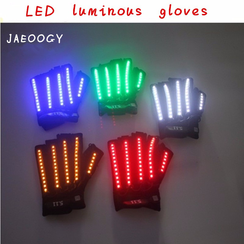 New 2019 Free Shipping Bright LED Stage Costumes Luminous LED Glasses LED Gloves Laser Stage Props Party Supplies in Party DIY Decorations from Home Garden