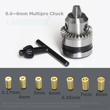 High Quality B10 Chuck Fit for Motor Shaft Diameter 3.2mm/4mm/5mm/6mm/6.35mm/7mm/8mm B10 0.6-6mm Mini Drill Chuck Copper Sleeve