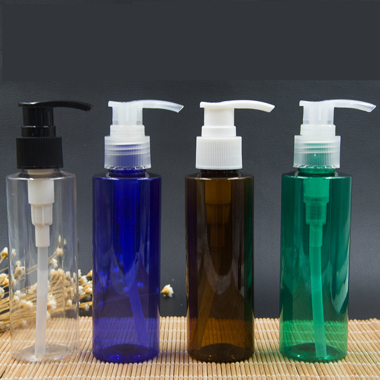 6ps 120ml plast lotionflaskor med behandlingspumpe för schampo, - Hudvårdsverktyg