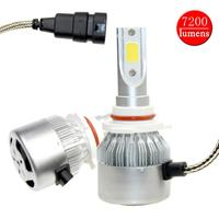 2psc Set 9005 HB3 H10 9 36V LED Auto Car Headlight Bulbs 7200lm 6000K 80W COB
