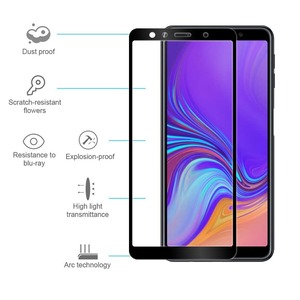 Image 3 - Full Cover Protective Glass for Samsung Galaxy A7 2018 A750F Safety Glass 9H Tempered Glass for Samsung A7 2018 Screen Protector