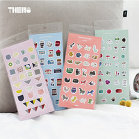 DIY Colorful Food 3D Kawaii Stickers Diary Planner Journal Note Diary Paper Scrapbooking Albums PhotoTag
