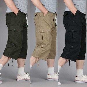 Image 2 - Zomer Korte voor Mannen Plus Size Cargo Shorts Casual Katoenen Strand Board Shorts met Multi Pocket Losse Baggy Joggers Kleding
