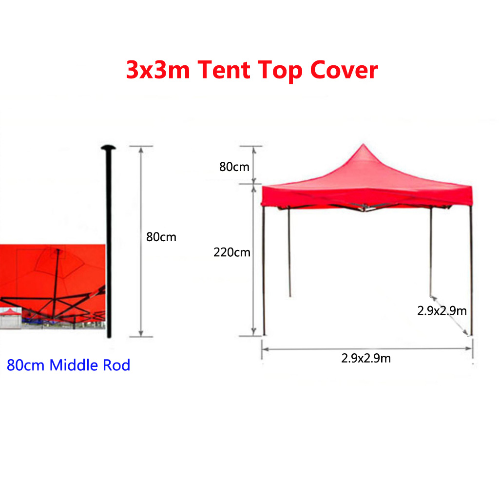 Image 5 - Tent Top Cover Canopy Awning Shelter Cover Replacement  Waterproof Oxford Tent Accessories for Outdoor Camping Hiking Blue/Red-in Tent Accessories from Sports & Entertainment