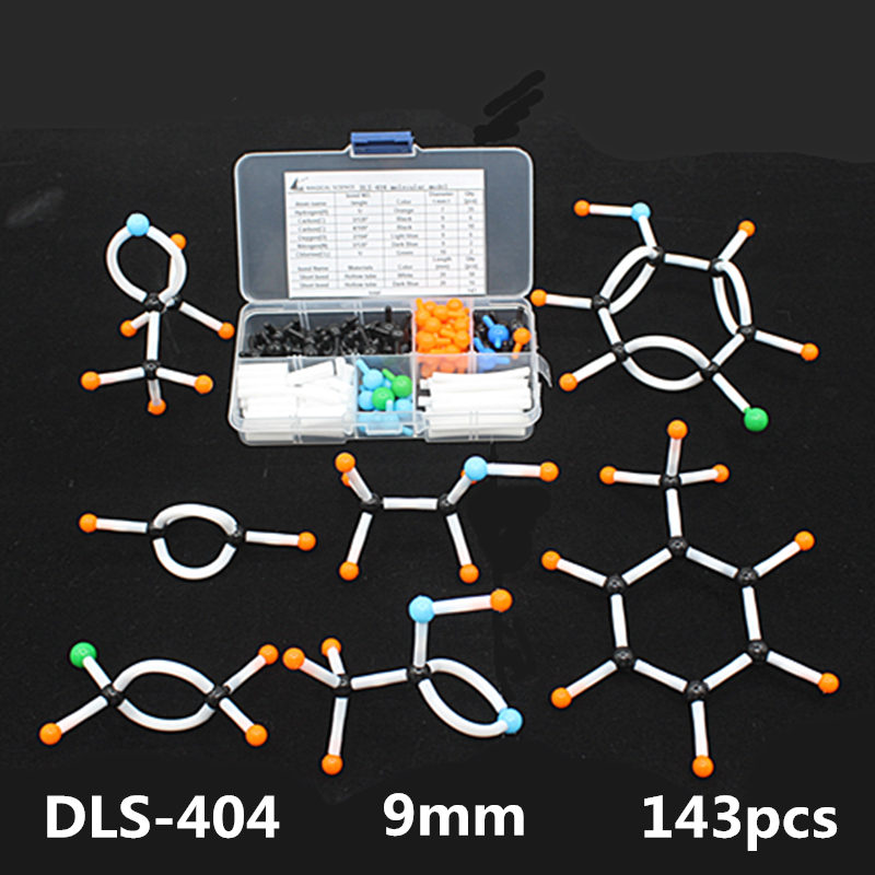 Mini Organic Chemistry Molecular Model kit Small tube for Students 143pcs/set Portable Small tube molecular models free shipping