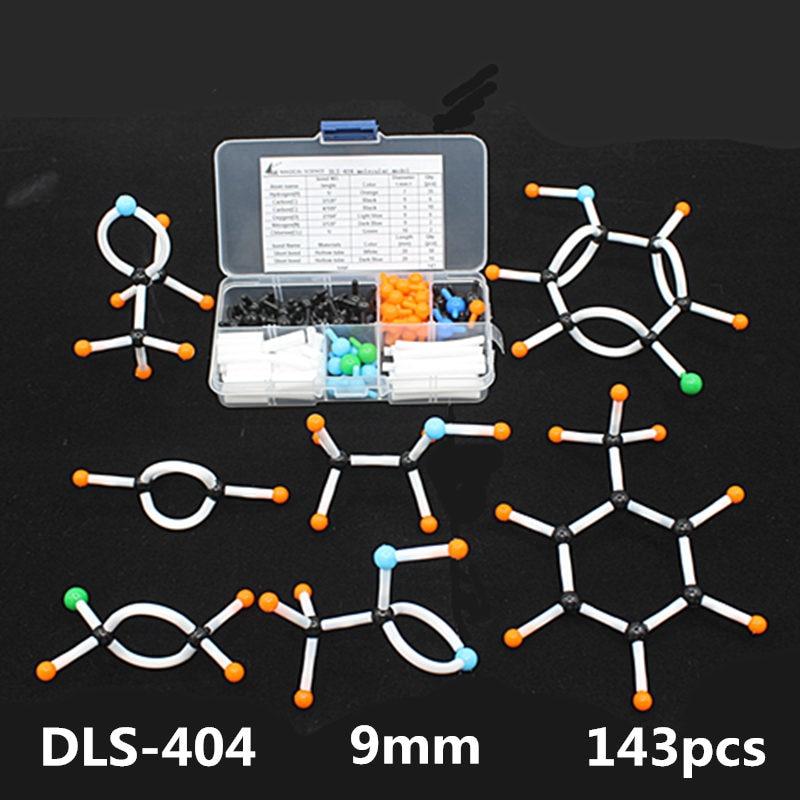 Mini Organic Chemistry Molecular Model Kit Small Tube For Students 143pcs/set Portable Small Tube Molecular Models Free Shipping