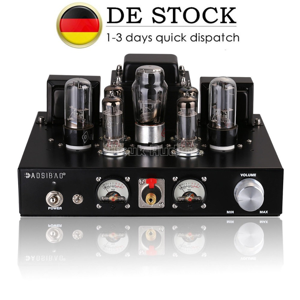 цена на 2017 New Nobsound HiFi 6P1 Vacuum Tube Integrated Amplifier Stereo Single-ended Class A Headphone Amp Black Handmade