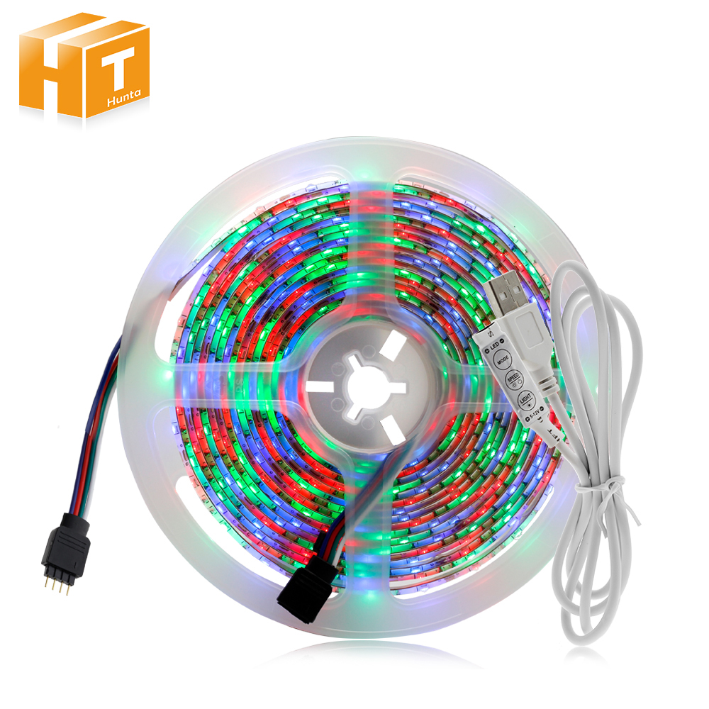 USB LED Strip Light 50CM 1M 2M 3M 4M 5M RGB LED Strip 2835 TV Background Lighting Christmas Decoracion Fairy Lights. 1m 2m 5m 30cm 4 pin rgb led connector extension cable cord wire with 4pin connector for rgb led strip light free shipping