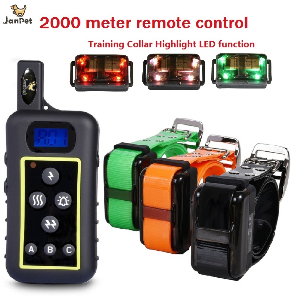 janpet-2000meters-remote-control-hunting-dog-training-collar-electric-dog-shocking-collar-with-hight-light-led-function
