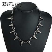 Best Rivets CBB material Chokers Punk Necklace Cheap