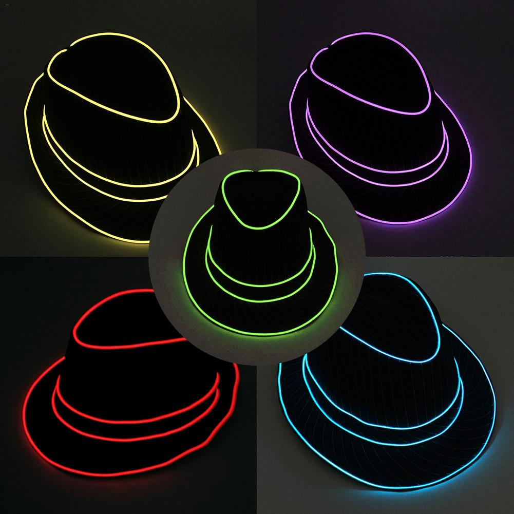 Luminous Hat English Top Hat Shiny Jazz Hat Festival Celebration Masquerade Party Prop For Christmas Decoracion