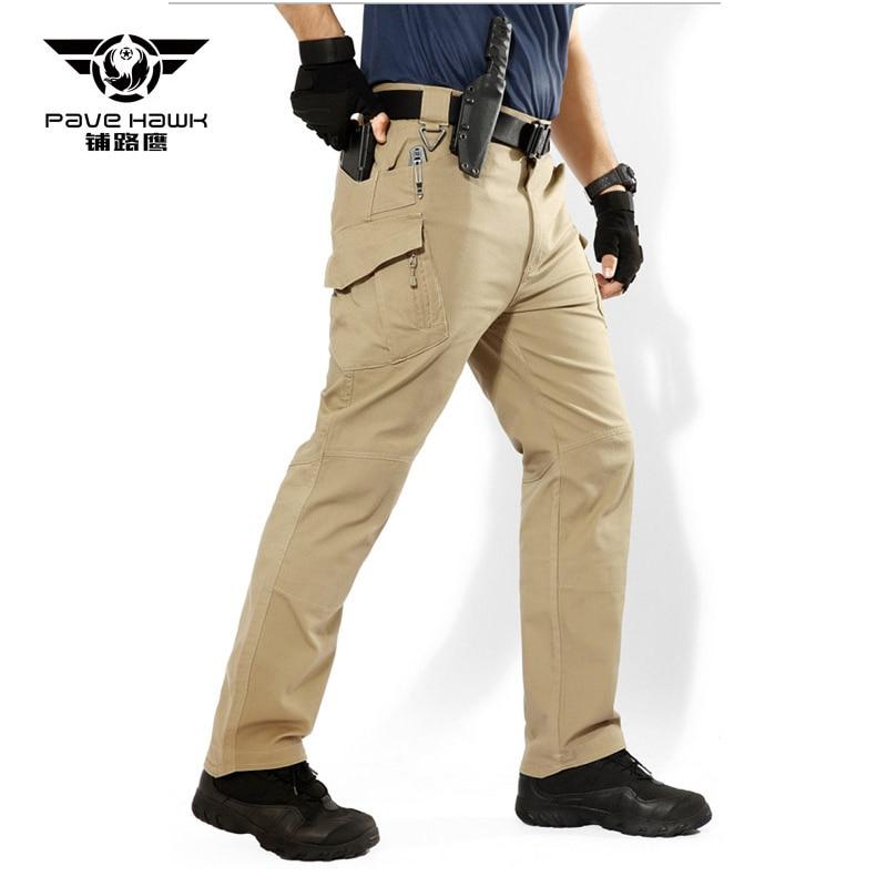 IX9 City Tactical Cargo Pants Men Combat SWAT Army Military Multi Pockets Stretch Flexible Man Waterproof  Cotton Trousers