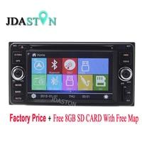 JDASTON 2DIN Car DVD GPS Radio multimedia Player For Toyota Terios Wild Nautica Echo Vitz Soluna Vios Limo Altis Estima terios