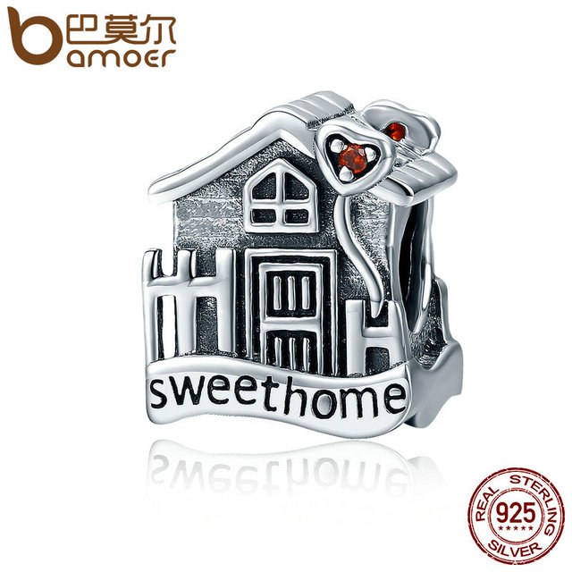 BAMOER Fashion New Genuine 100% 925 Sterling Silver Sweet Home Loft Villa Charms