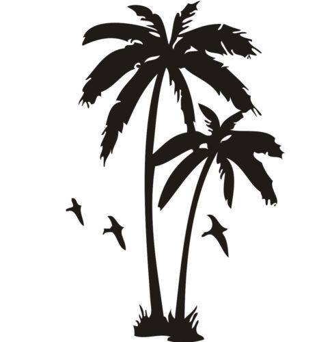 Car Stickers Initiative Automobile,20x8cm For palm Tree  Vinyl Sticker Decal Car Home Lap Top Car Sticker Da-57