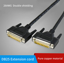 Pure Copper DB25 Extension Cable Male to Male to Female 25 pin Parallel Port Connect Wire Shieldiing Computer Printer Data Line laptop parallel port card pcmcia parallel port card db25 printer parallel lpt port to cardbus pcmcia pc card adapter converter