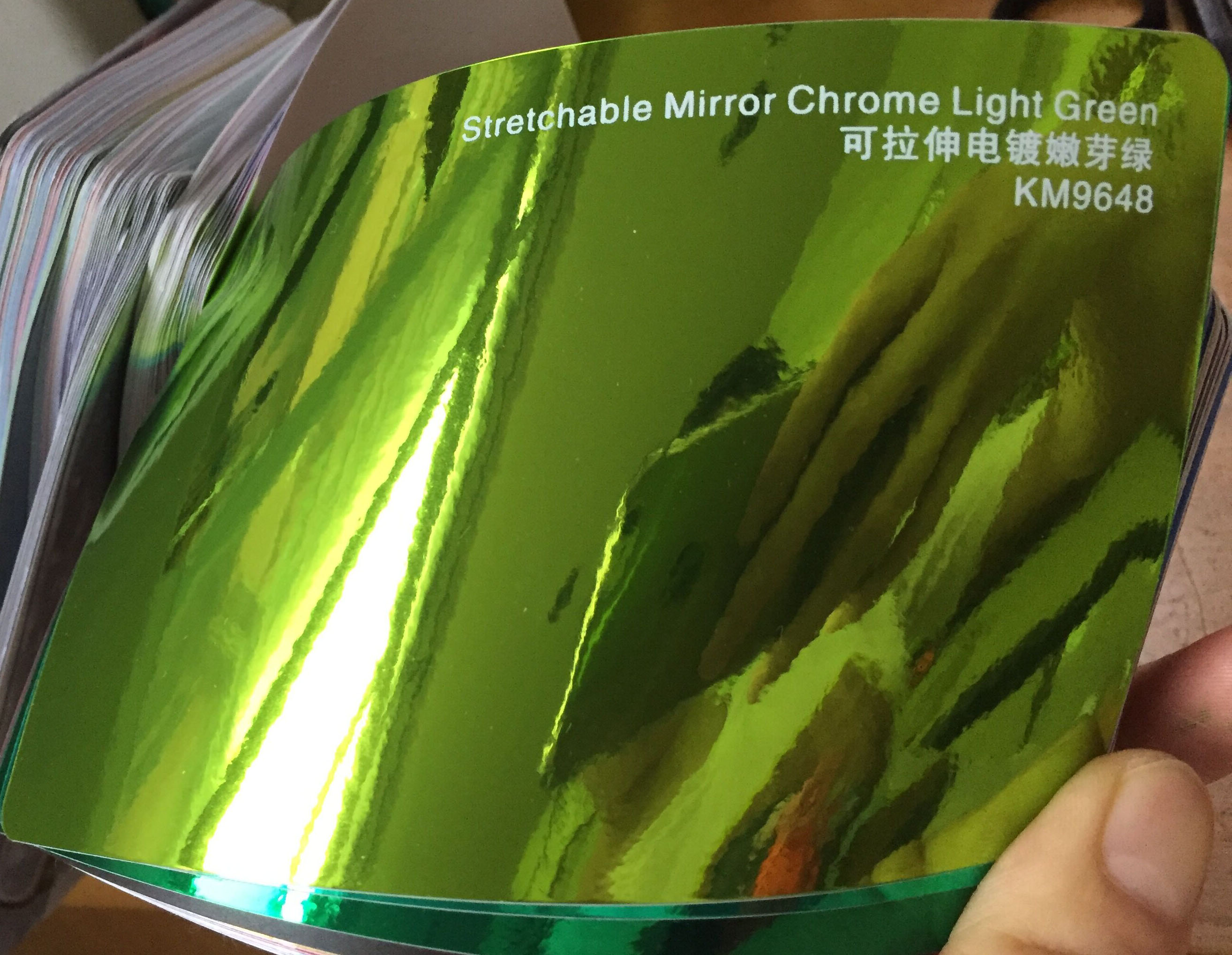 Image 2 - New Arrival High stretchable mirror light green Chrome Mirror flexible Vinyl Wrap Sheet Roll Film Car Sticker Decal Sheet-in Car Stickers from Automobiles & Motorcycles