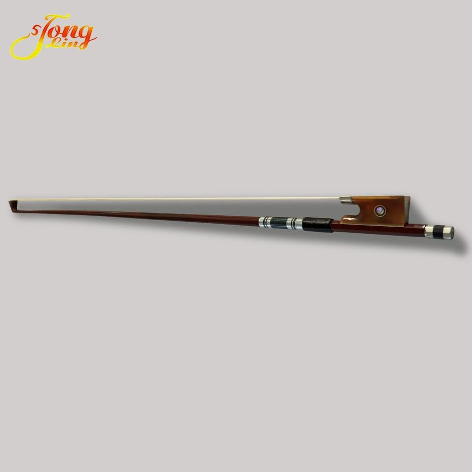 Violin Bow 4//4 Superior Brazilwood Violin Bow ebony frog white Horse hair Well Balanced Handmade Intermediate Users Advance students Violin Bow