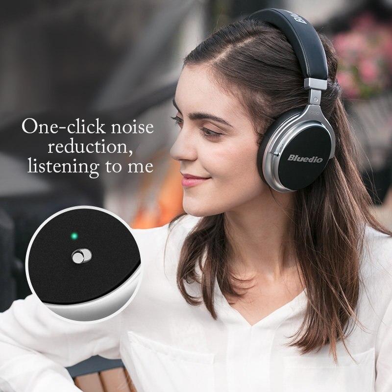 2017 New Bluedio F2 activa de ruido cancelación de Bluetooth inalámbrico Auriculares auriculares con micrófono para teléfonos - 4