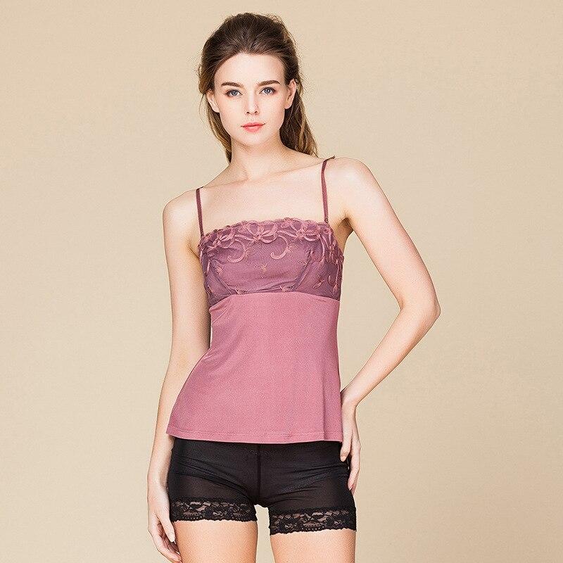 0b744c279a97 Women 100% Real Silk Intimates Tube Tops Silk Knitted Sling Anti-exposition Female  Mesh Underwear 2551 | Wedding Apparel