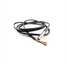 1pcs DS18B20 Stainless steel package 1 meters waterproof DS18b20 temperature probe temperature sensor 18B20