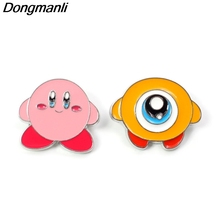 P3900 Dongmanli Fashion Kawaii Kirby Metal Enamel Brooches and Pins Collection Lapel Pin Badge Jewelry