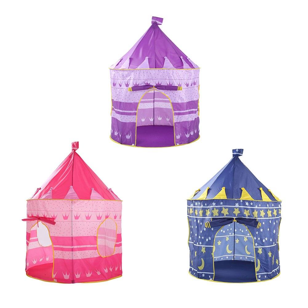 Pop Up Play палатка для девочек принцесса замок открытый дом палатки Портативный розовый детей Подарки Детские москитные сетки