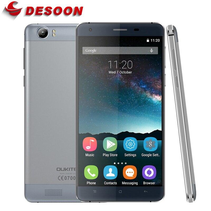 """Цена за Оригинал OUKITEL K6000 5.5 """"1280*720 Экран Android 5.1 4 Г LTE Смартфон Зарядка Вспышки Dual SIM 2 Г RAM 16 Г ROM 13.0MP 6000 мАч"""