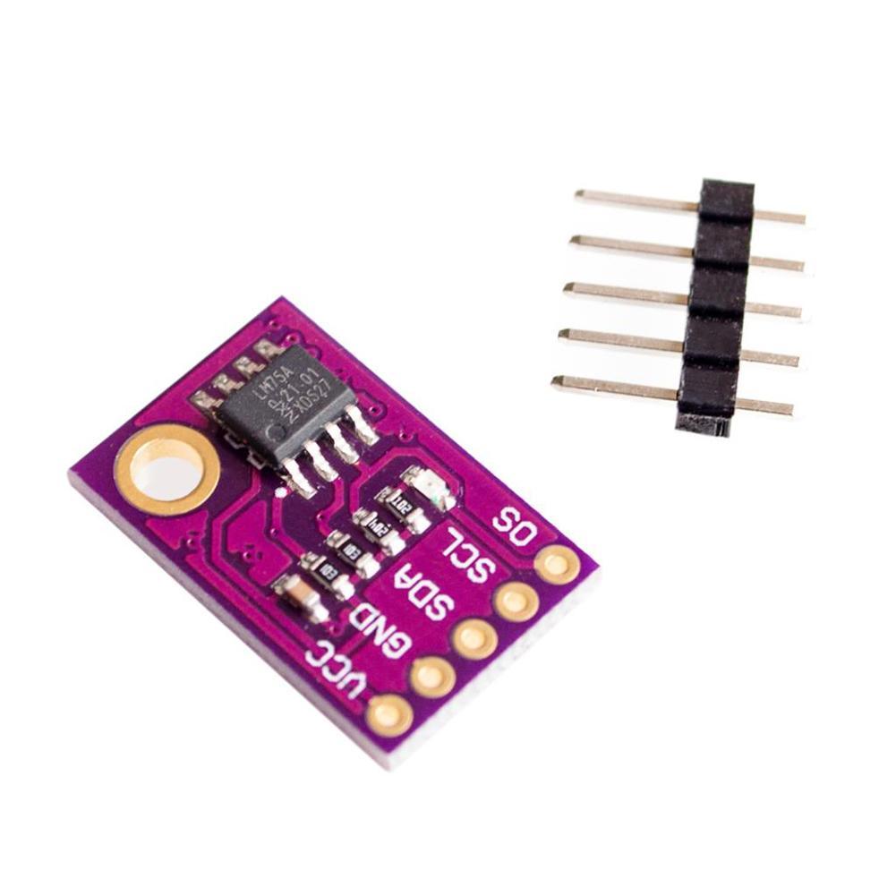 LM75 LM75A Temperature Sensor High Speed I2C Interface High Precision Development Board Module