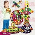 158 шт. развивающие игрушки мини претендентом магнитного строительные блоки кирпича 3D DIY магнитных блоков дети игрушки подарок