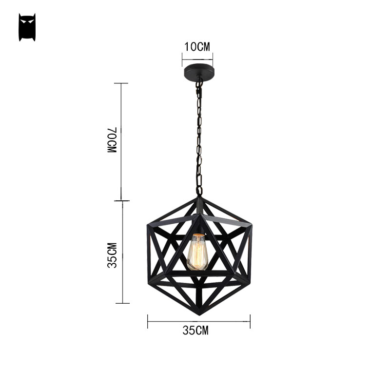3545cm black wrought iron cage pendant light chain fixture vintage 3545cm black wrought iron cage pendant light chain fixture vintage industrial retro loft hanging lamp luminaria indoor home in pendant lights from lights aloadofball Choice Image