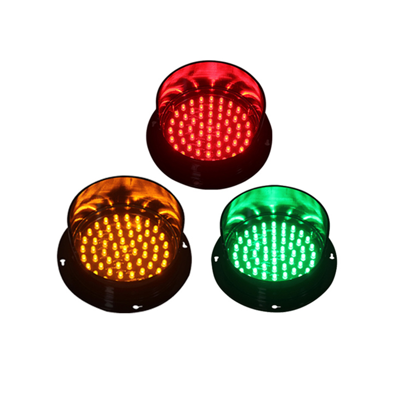 DC24V Customized 125mm Red Yellow Green Color One Lot LED Traffic Signal Light For Promotion