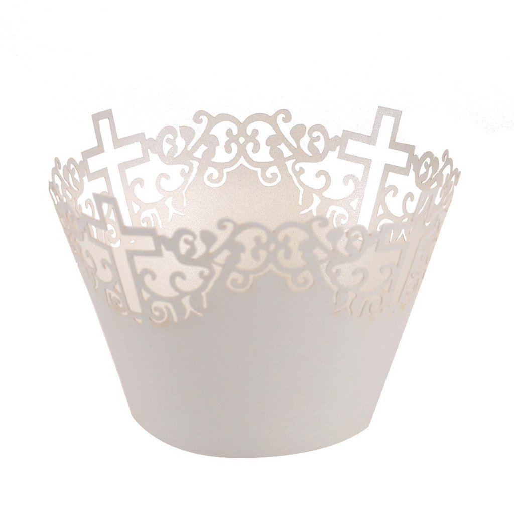 unids filigrana vid cruz nubes de envolturas de la magdalena muffin torta de la taza