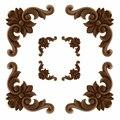 4 шт. VZLX винтажная Неокрашенная древесина  резная угловая аппликация  рама для домашней мебели  настенный шкаф  декор для дверей
