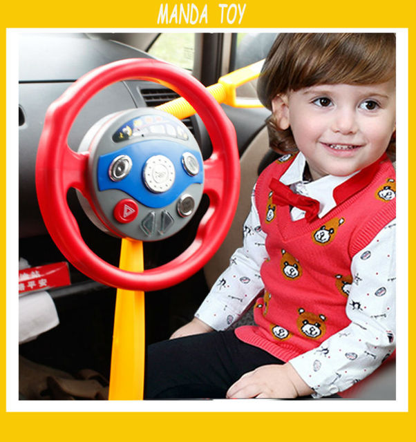 Childrens Electronic Backseat Driver Car Seat Steering Wheel Educational Toy Game Classic Child Pretend