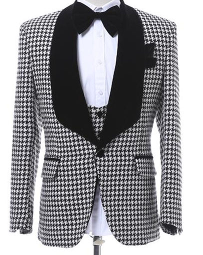 Customize-Houndstooth-Groom-Tuxedos-Shawl-Lapel-One-Button-Side-Vent-Men-Wedding-Blazer-Men-Prom-Dinner (1)