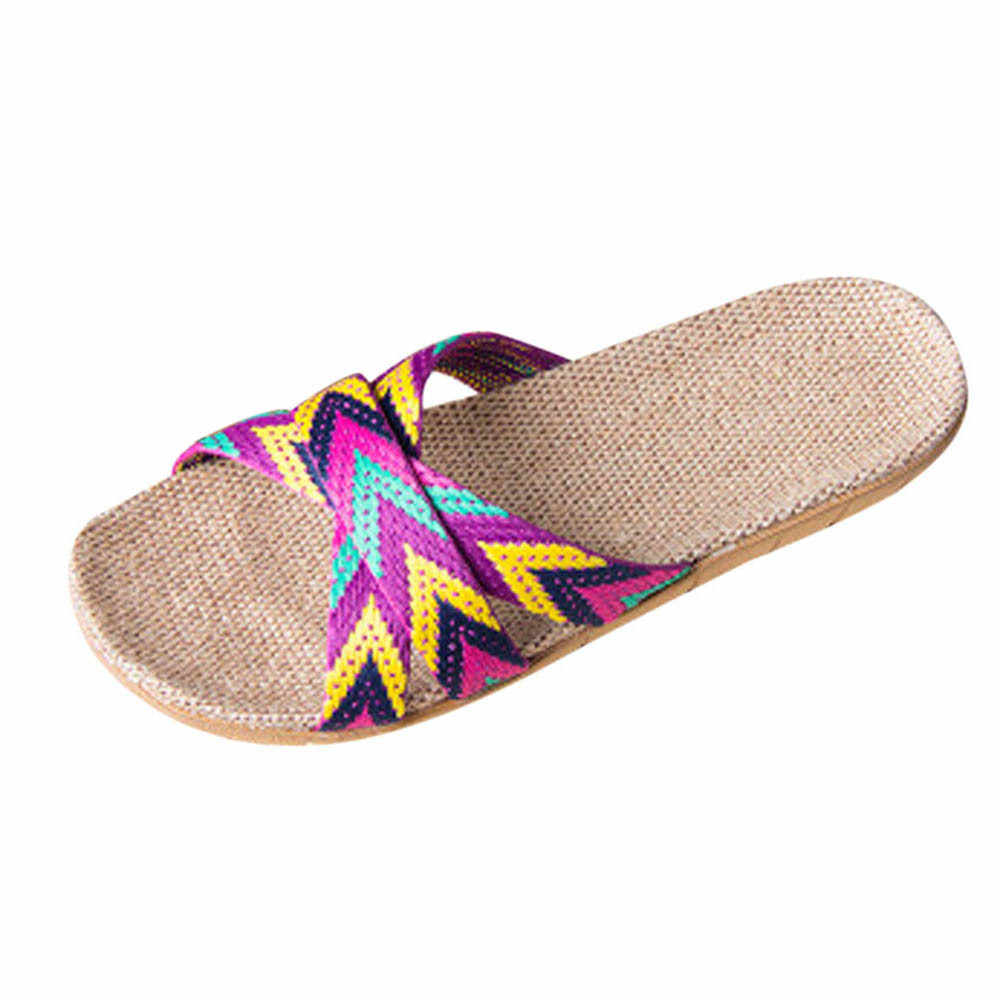 SAGACE Schuhe Frauen Sommer Hausschuhe Frauen Männer Anti-slip Leinen Indoor Strand Hausschuhe Startseite Offene spitze Wohnungen Schuhe Hausschuhe 2019