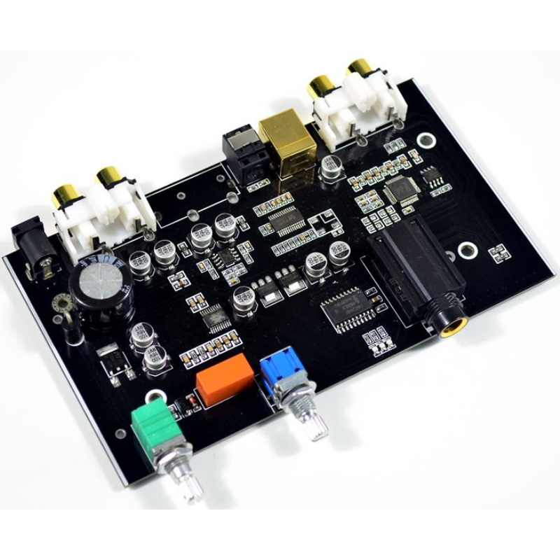 PCM5100 Digital To Analog Converter USB Optical Fiber RCA DAC Decoding Board 96KHZ For PC TV Amplifier