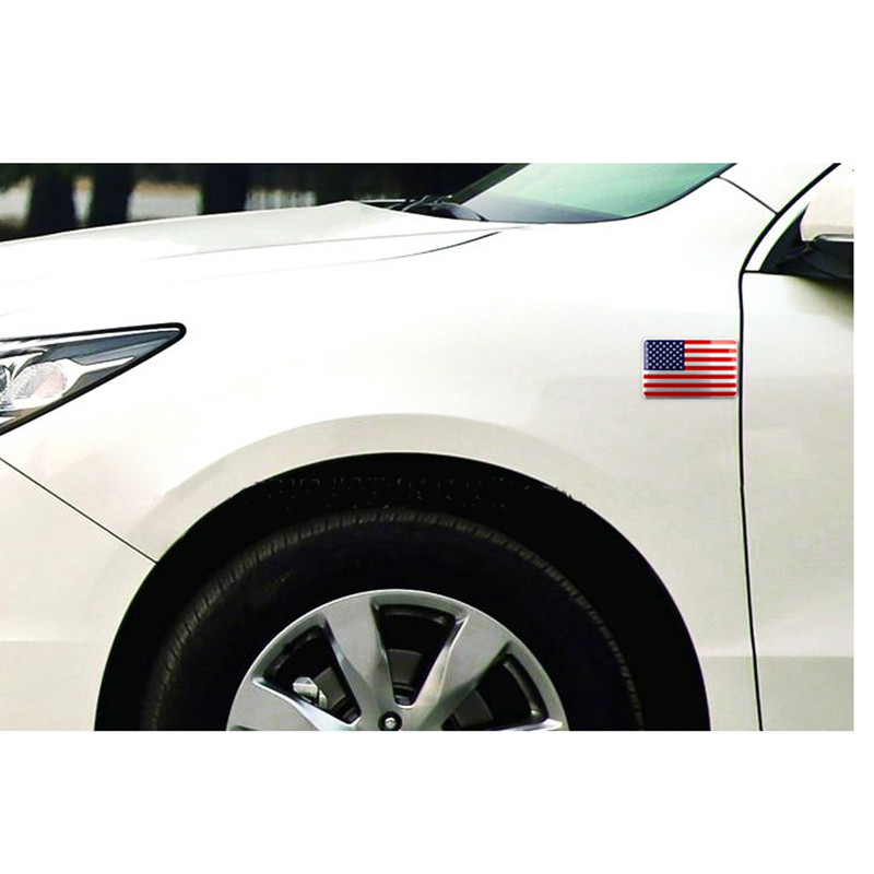 DSYCAR Metal American US Flag Car sticker logo Emblem Badge Car - Exteriör biltillbehör - Foto 5