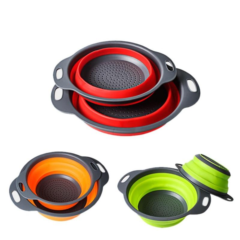 Tabla de Cortar de Cocina Multifuncional colador de latas de Verduras y Frutas Colador con Asas,Cesta de Drenaje de Fregadero abatible de 360 /°