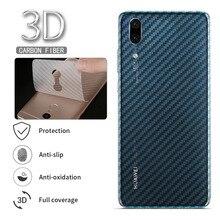5Pcs/lot Screen Protector 3D Carbon Fiber Back Cover for Huawei P10