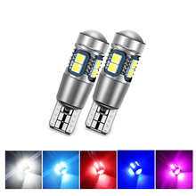 2x T10 W5W 168 147 LED Car Clearance Lights Reverse Parking Bulbs 3030 10 SMD Auto White Ice blue Tail Lamp