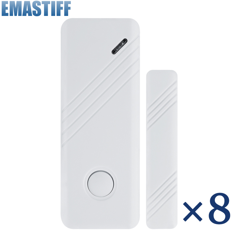 Top Quality CE Met Wireless Magnetic Contact Door Sensor Window Entry Detector 433MHZ Home GSM Security System wireless window door sensor magnetic contact w emergency button 433mhz ev1527 pt2262 door window detector anti thief home alarm