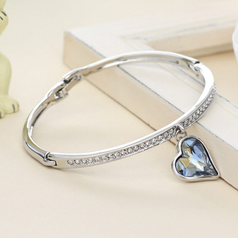 Neoglory Austria Crystal Rhinestone Jewelry Set Heart Wedding Bridal