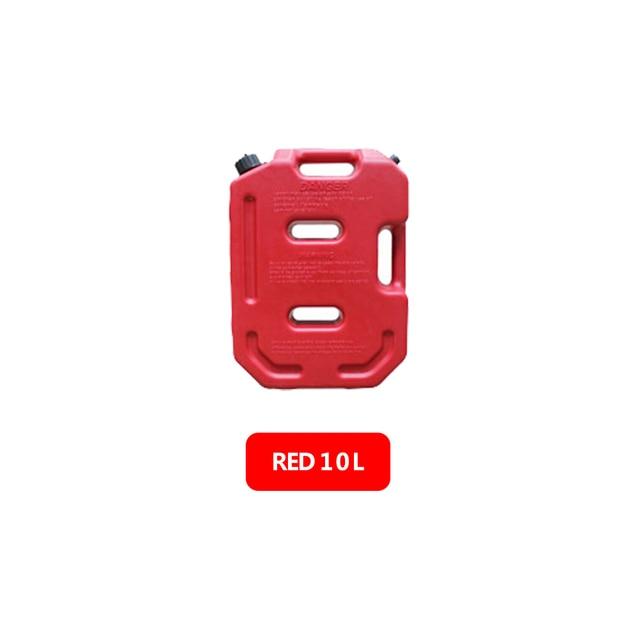 10LPortable Fuel Oil Tank Cans Rectangular Plastic Petrol Diesel Tanks Oil Bucket outdoor sea for Auto Jeep SUV Car Boat ATV UTV