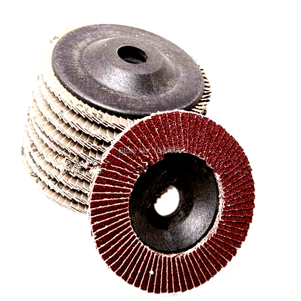 120 Grit 3 Mini Flap Discs Quick Change Zirconia Grinding /& Sanding Wheels 10 Pack Black Hawk