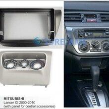 9inch Car Fascia Radio Panel for MITSUBISHI Lancer IX 2000-2010 Dash Kit Install Facia Console Bezel Adapter 9inch Plate Cover