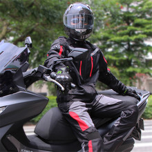 Riding Tribe Motorcycle Racing Suit Windproof Protective Gear Armor Jacket+Motorcycle Pants Hip Protector Moto Set
