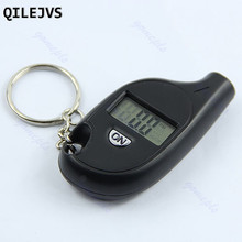 QILEJVS Mini Applied Keychain LCD Digital Tire Tyre Air Pressure Gauge For Car Motorcycle hot #1